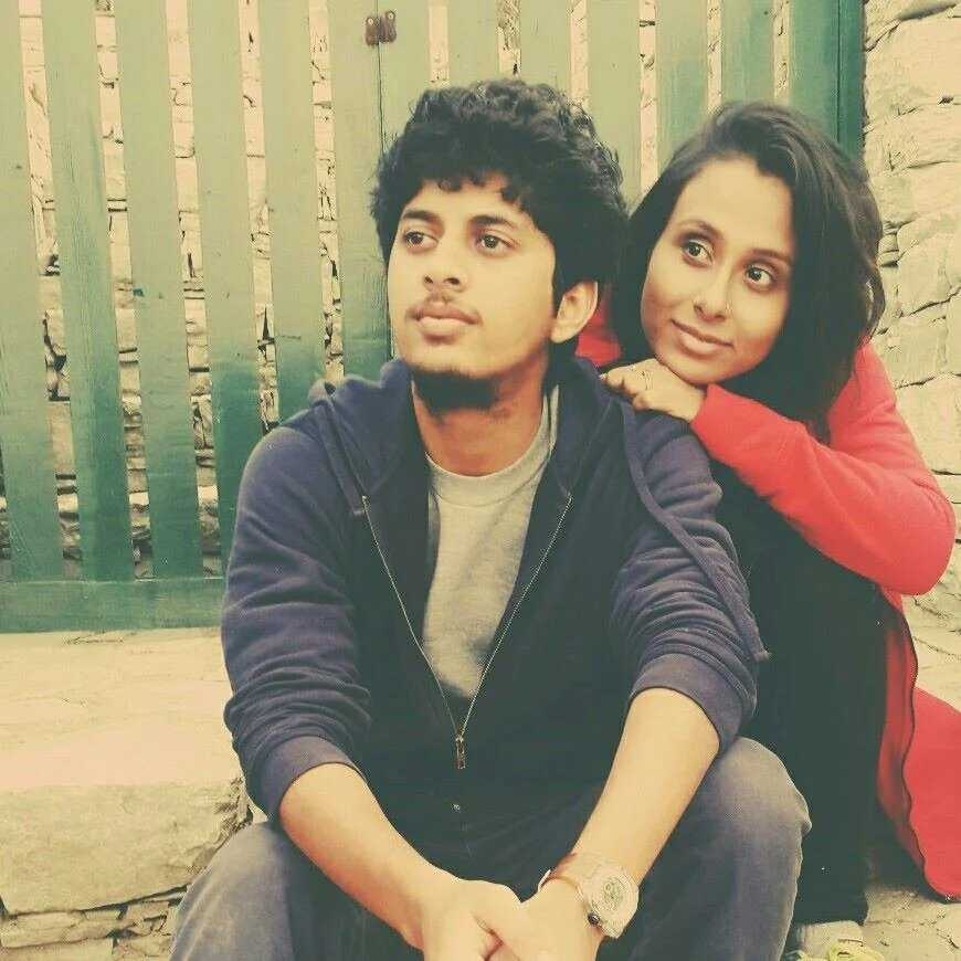 This image has an empty alt attribute; its file name is Mayur-More-with-Trisha-Kale.jpg