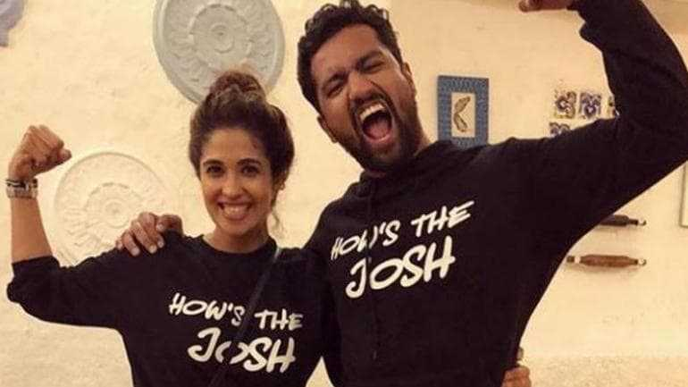 This image has an empty alt attribute; its file name is Vicky-Kaushal-with-Harleen-Sethi.jpeg