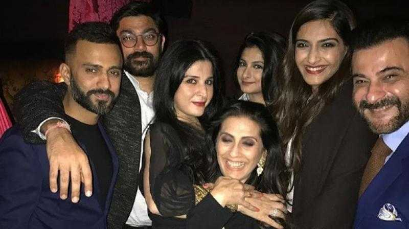 Anand Ahuja and Sonam Kapoor in family function